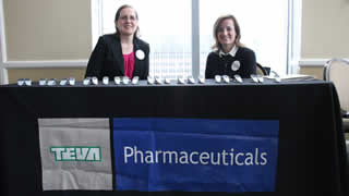 Say Hello to TEVA Pharmaceuticals representatives Cara Shank and Heather Waslin